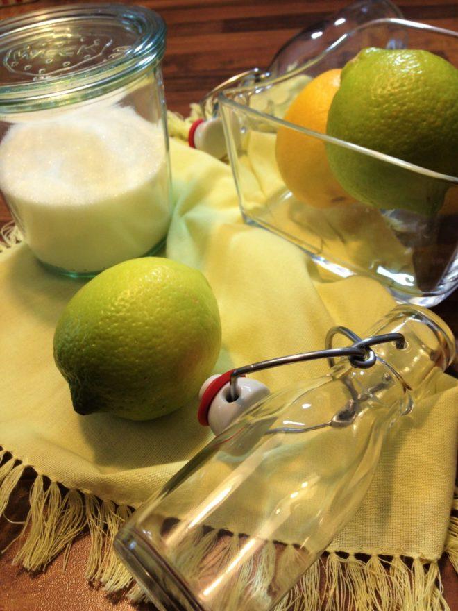 Zitronensirup2, Limonade, Zitronen