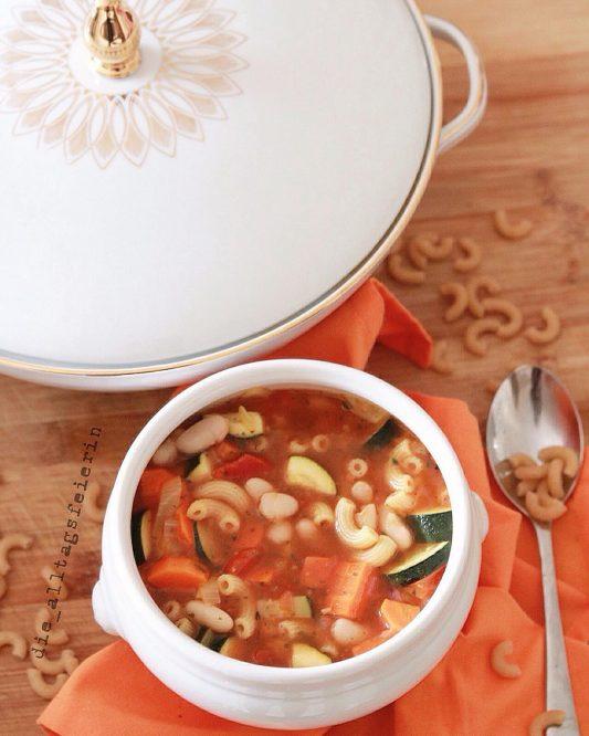 Speiseplan, Wochenplan, Essensplanung, was koche ich heute, die alltagsfeierin, italienische Gemüsesuppe