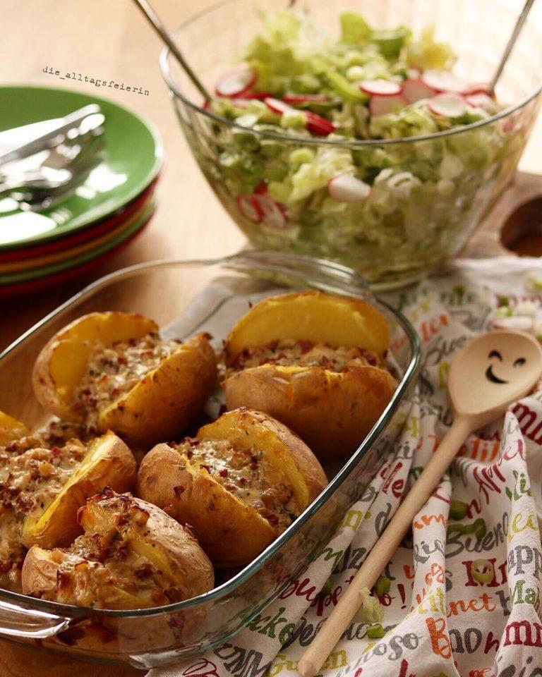 Ofenkartoffeln, Speiseplan, Essensplan, Wochenplan, Freebie, Was koche ich heute? Familienküche
