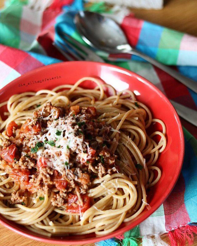 Wochenplan, Speiseplan, Spaghetti Bolognese, Mittagessen, Abendessen, Pasta, Freebie