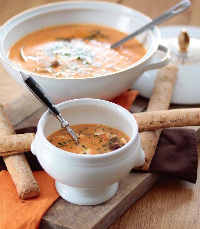 Paprika-Mascarpone-Sueppchen, Suppendienstag, Suppe, Familienessen, Paprikasuppe