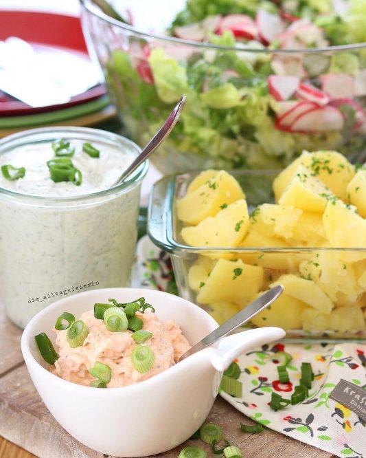 Speiseplan Freebie, Wochenplan, Essensplan, Freebie Wochenplan,Speiseplan, Kartoffeln mit Quark, Kraeuterquark, Lachsdip, Salat,