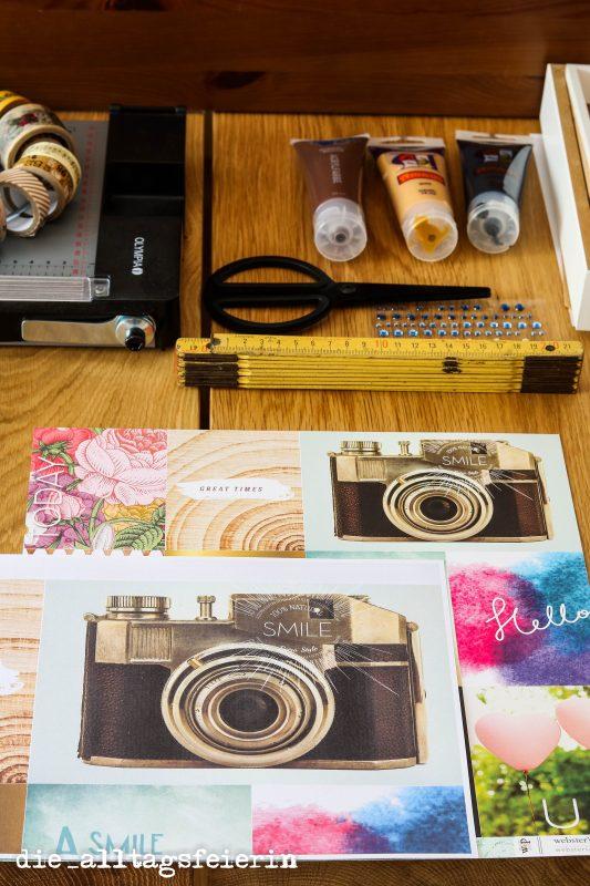 Gutschein, Ribba-Bilderrahmen, DIY, Scrapbooking, Websters Pages