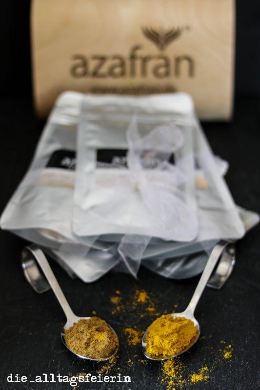 Azafran, Indische Gewürzbox, Garam Masala, Zimt, Curry