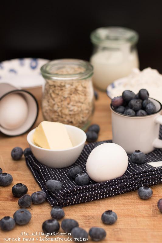 Heidelbeerschmarrn, Süßspeise, Heidelbeeren, Blaubeeren, Joghurt, Haferflocken, Familienessen, gesundes Essen