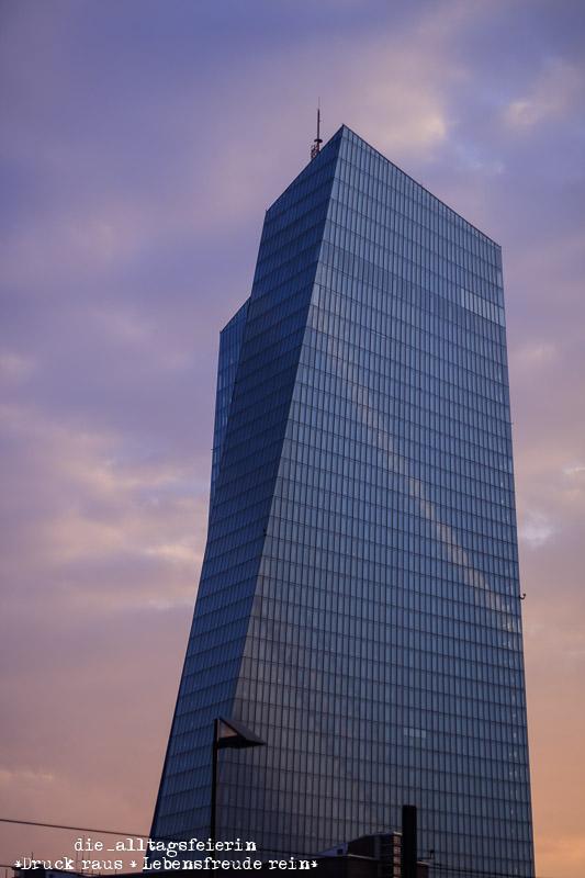Frankfurt, ECB, Miniblogst17, MiniBLOGST, Frankfurt blaue Stunde