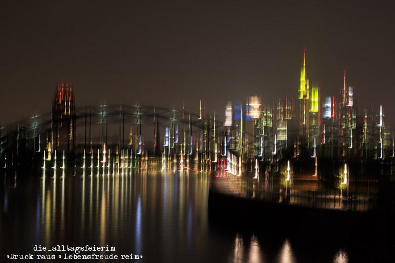 Frankfurt am Main, Langzeitbelichtung, Kunst, Skyline, Skyline bei Nacht, Miniblogst17, MiniBLOGST