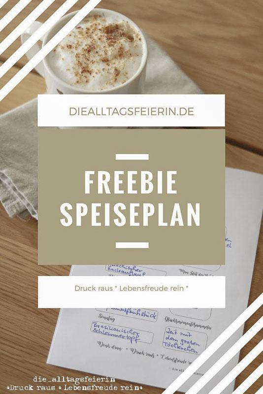 Speiseplan, Freebie, Wochenplan, Familienküche, free,