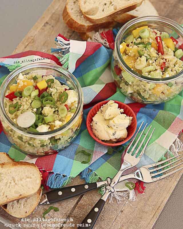 Couscous-Salat, Faltenbrot, Speisplan, Essensplan, Freebie, Wochenplan, Download, Familienküche