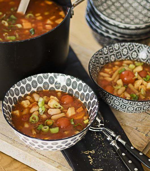 Pasta-Rezepte, Suppendienstag, Suppe, veggie, vegetarisch, Minestrone, italienische Gemüsesuppe, gesund, lecker, leicht zuzubereiten