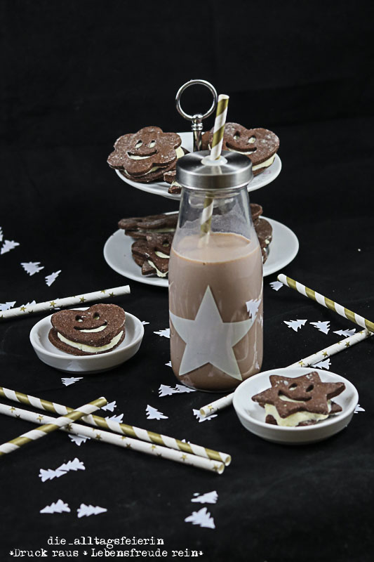 Weihnachtsbäckerei, Schoko-Kokos-Taler, Schoko-Kokos-Smileys, Schokolade, Plätzchen, Plätzchen backen, Weihnachten,