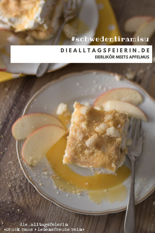 Rezept für Schweden-Tiramisu, Eierlikör meets Apfelmus