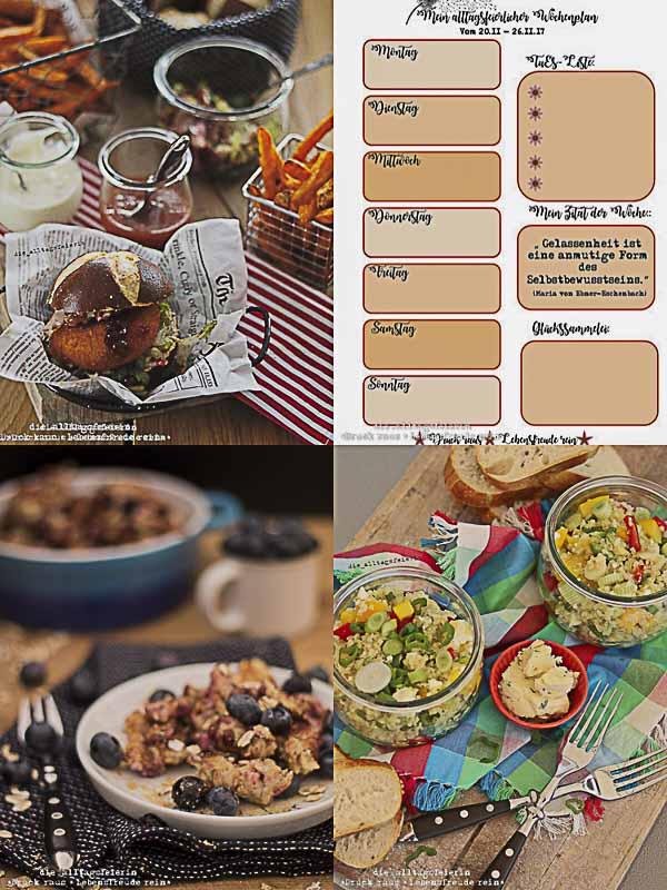 Speiseplan, Freebie, was koche ich heute?, Essensplanung, Essensplan, Wochenplan, Blaubeeren, Huettenburger, Couscoussalat