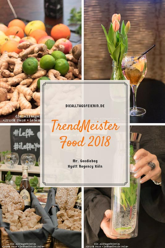 TrendMeister Food, TrendMeister Food 2018 in Köln, Hyatt Recency Köln, Köln, Cologne, Foodmesse, Alfi, Kraftling, Happy Bars, Miameé, Restaurant Glashaus, Legends Bar, Berief, Leffe Bier, Foodbloggerevent, Bloggerevent, Ü40 Blogger, Goodiebag, Mr. Goodiebag, Macarons, Food, Cocktails, Gurkini, Messer von Kyocera, Kyocera
