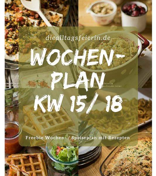 Speiseplan, Essensplan, Vordruck Speiseplan, Wochenplan, Freebie