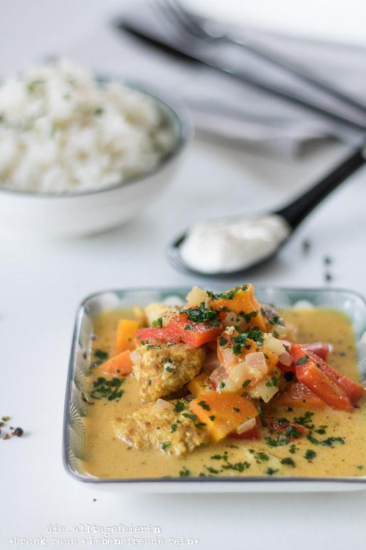 Speiseplan No 10-2020, Vordruck zum Ausfüllen,Indisches Haehnchen-Curry, Curry, Gewuerz, indische Kueche, Reis, Naan-Brot, Paprika, Familienkueche, leichte Kueche, Kindergericht, frisch kochen, Mango