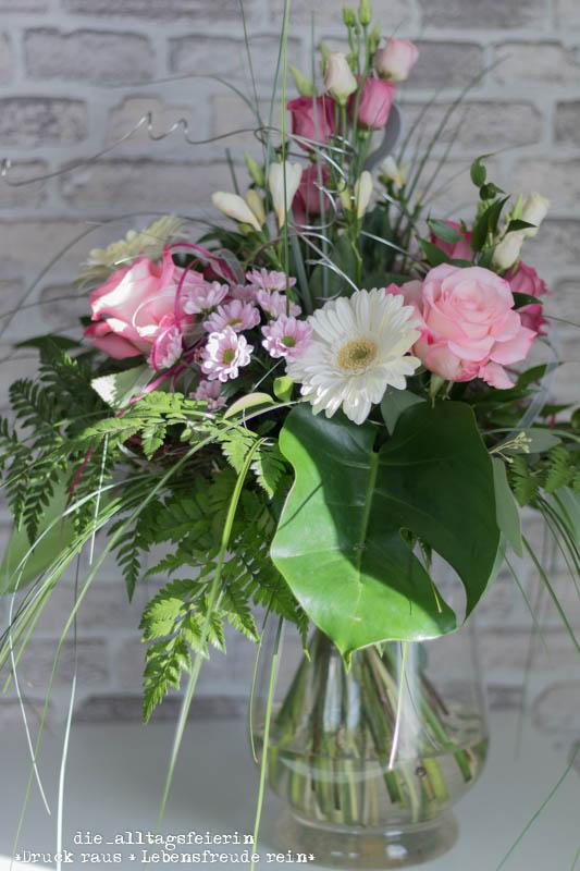 Wochenendfeierei, Wochenglückrückblick, Speiseplan, Blumen, Flowers, Geburtstagsstrauß, Rosen, Gerbera