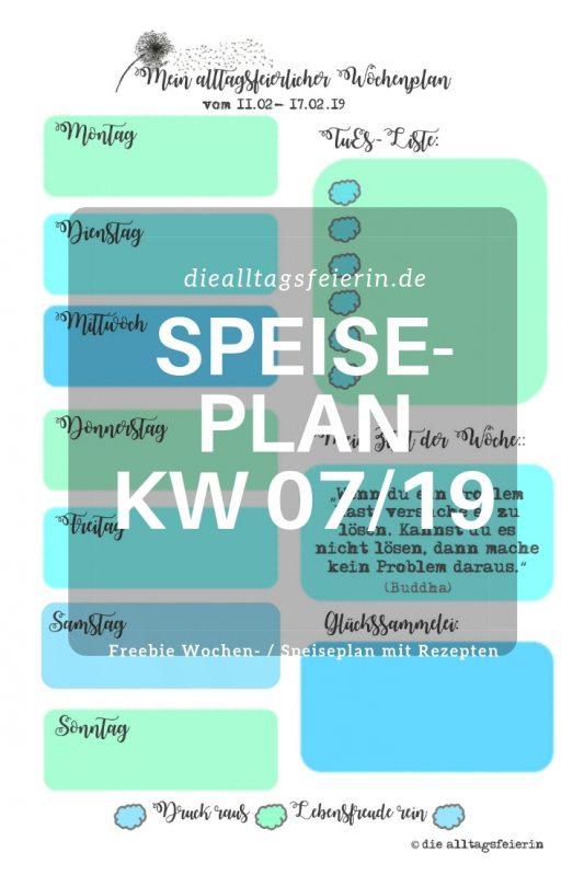 Wochenendfeierei 07-19, Speiseplan, Wochenplan, Wochenendfeierei, Wochenendglückrückblick, Freebie Speiseplan