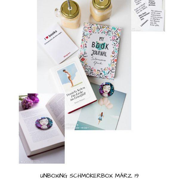 Unboxing Schmökerbox, April 19, Die Liebe im Ernstfall, Daniela Krien, Ueberraschungsbox, Romanempfehlung, Rezension, Frauenthemen, Diogenes Verlag,
