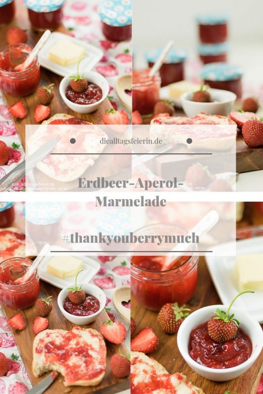 Erdbeer-Aperol-Marmelade, Erdbeermarmelade