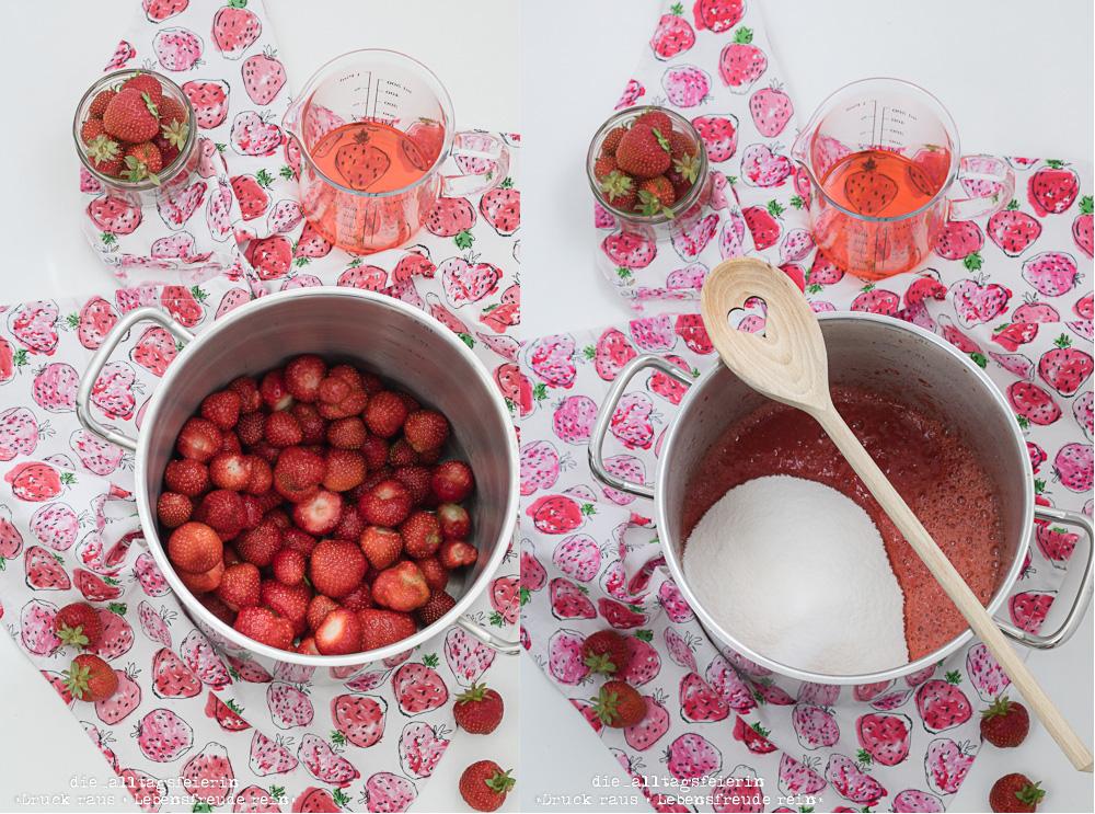 Erdbeer-Aperol-Marmelade, Erdbeermarmelade, Marmelade kochen