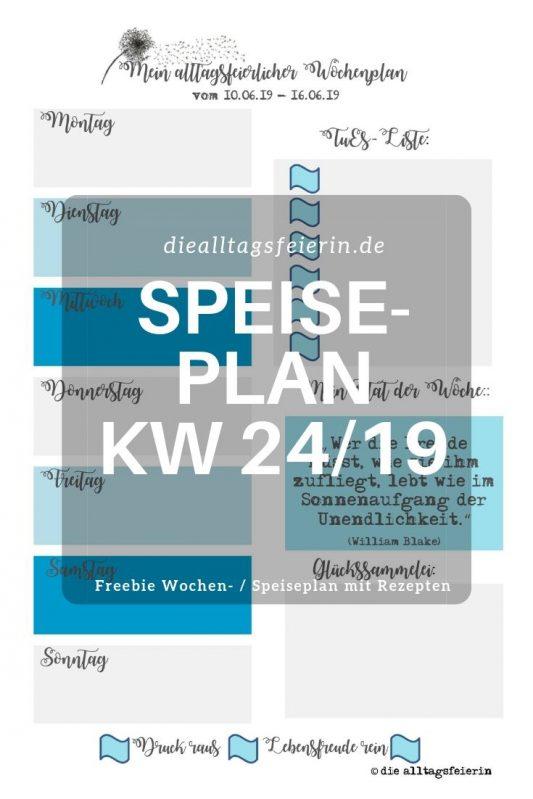 #diefreitagsfragerei, Wochenglückrückblick, Wochenendfeierei, KW23-19, Speiseplan, Wochenplan KW 24-19,