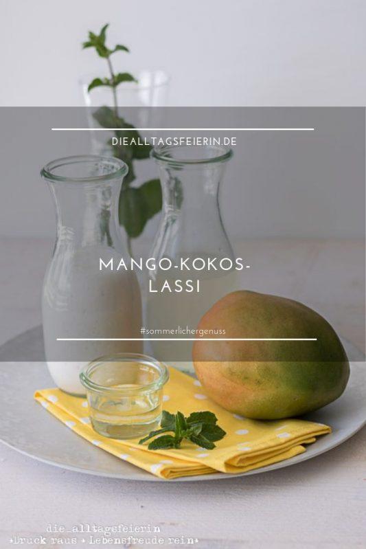 Mango-Kokos-Lassi, Lassi, indisches Joghurtgetränk, veganes Lassi, Lassi mit Kokoswasser, Lassi mit Kokosmilch, Mango, Kokoswasser, Kokosmilich, sommerliche Erfrischung, diealltagsfeierin.de