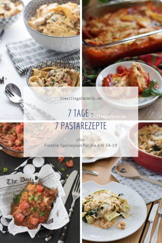 Pastarezepte für die Familie, Speiseplan No 06-2020, Familienküche