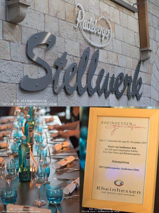 Rheinhessen genießen, Rheinhessenwein e. V., Stellwerk Saulheim, Restaurant Stellwerk, Saulheim, Saulheimer Reh