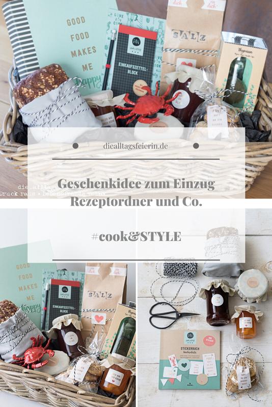 cook&STYLE, moses. Verlag, Rezeptordner, Rezepte, Geschenkideen zum Einzug, personalisiertes Rezept, Geschenkekorb zum Einzug