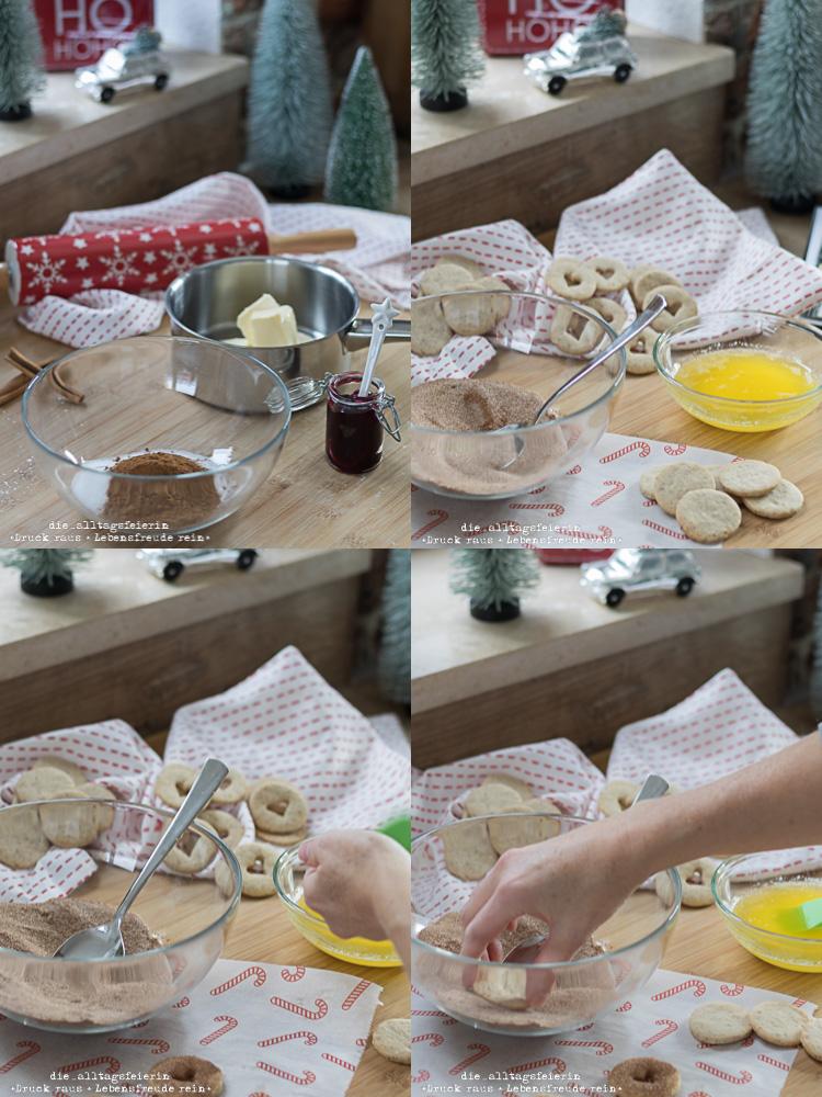 Das Freulein backt! zur Weihnacht, Zimttaler, Plätzchenrezept mit Zimt und Gelee, Buchrezension