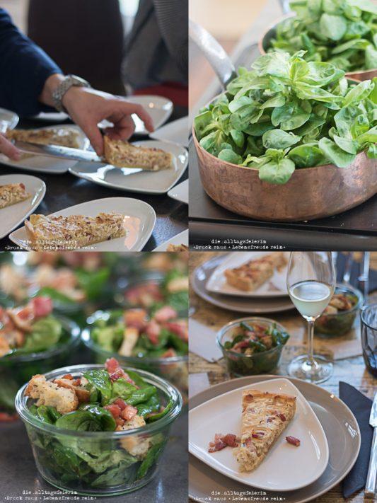 Zwiebelkuchen mit Feldsalat, Speck und Croutons, Bloggerevent Herbsliebe Freiburg, LoKation, #herbstliebe