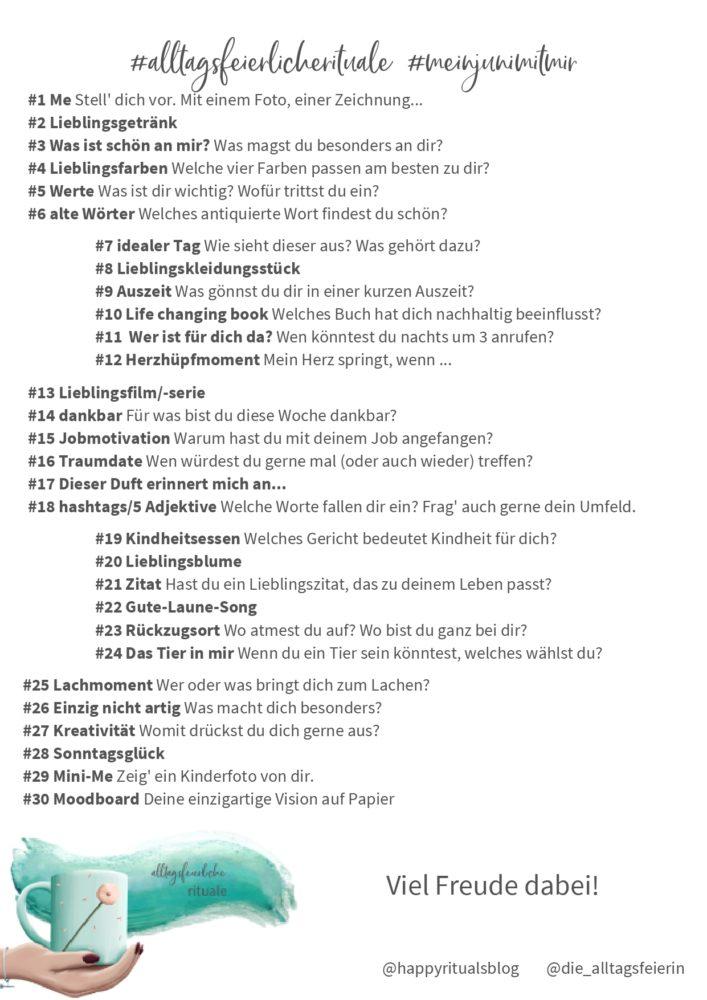 30 Tage Challenge, alltagsfeierliche Rituale, eine Gemeinschaftsaktion von diealltagsfeierin.de und happyritualsblog.de