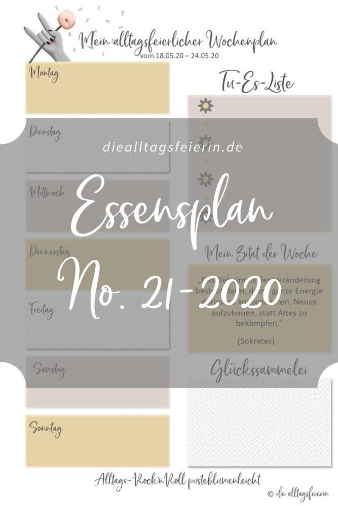 Essensplan No 21-2020