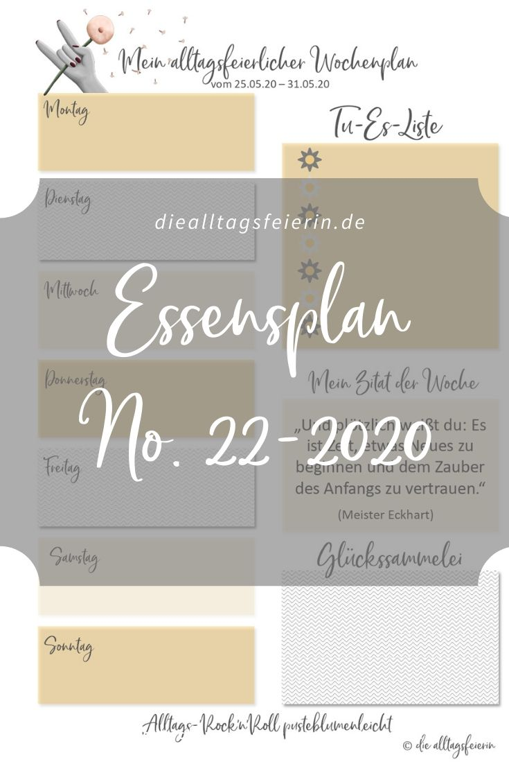 Essensplan No 22-2020