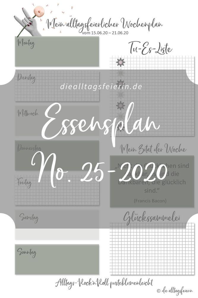 Essensplan No 25-2020