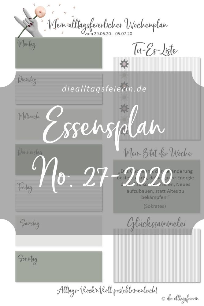 Essensplan No 27-2020