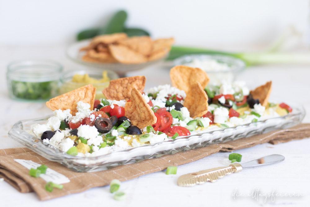 Layer-Dip - Orient meets Griechenland - ein Rezept für einen geschichteten Dip der besonderen Art