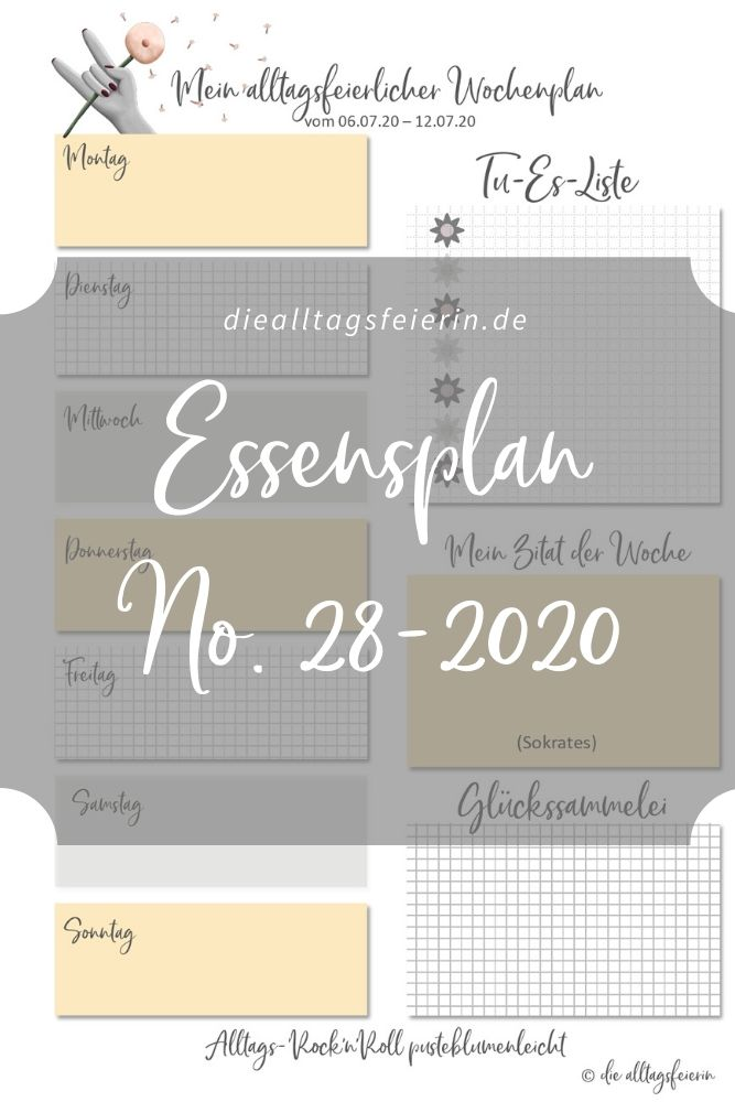 Essensplan No 28-2020