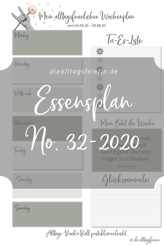 Essensplan No 32-2020