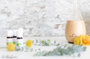 Kurland, die Duftlampe Raindrop und die Erklärung, wie ätherische Öle deine Psyche positiv beeinflussen können
