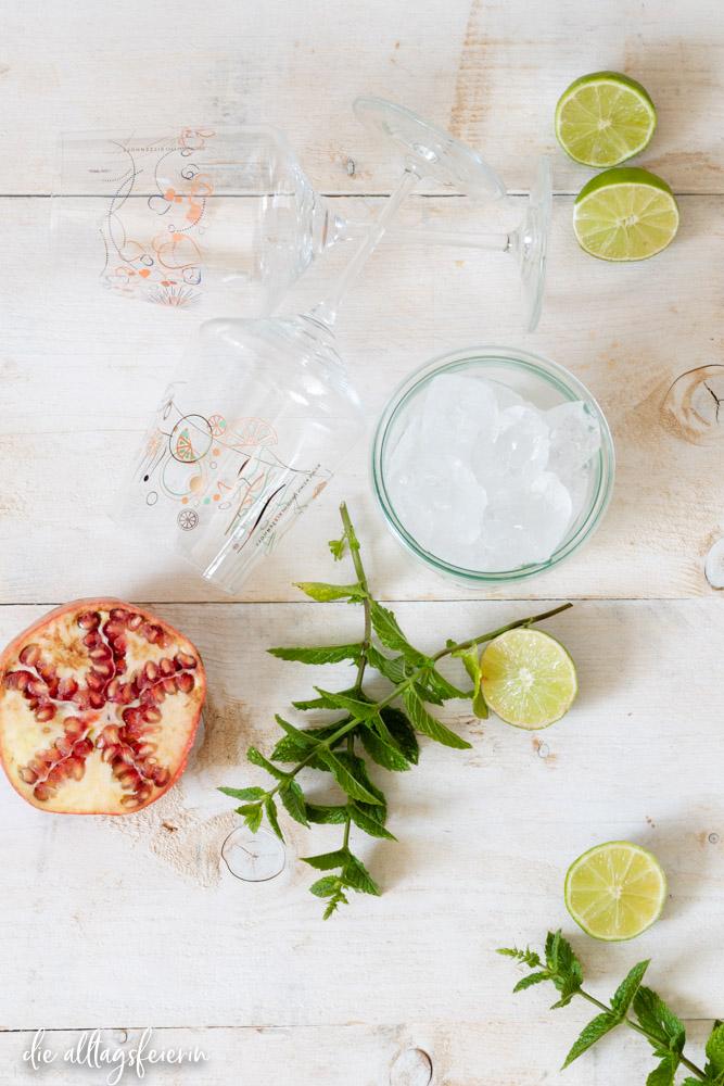 Granatapfel-Spritz, Rossi, das leckere Sommergetränk