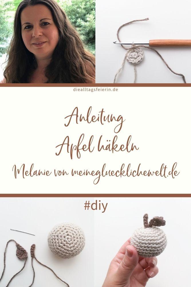 Anleitung Apfel häkeln, Melanie von meinegluecklichewelt.de, Kornblumendesign