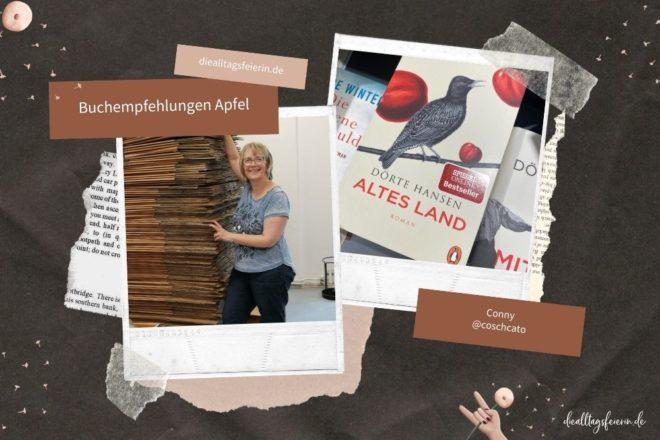 Conny empfiehlt Apfelbücher, Bücher mit dem Thema Apfel., diealltagsfeierin.de