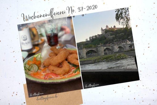 Wochenendrückblick No 37-2020, Auszeit in Würzburg, Veganes asiatisches Essen, Sonnenuntergang am Main.