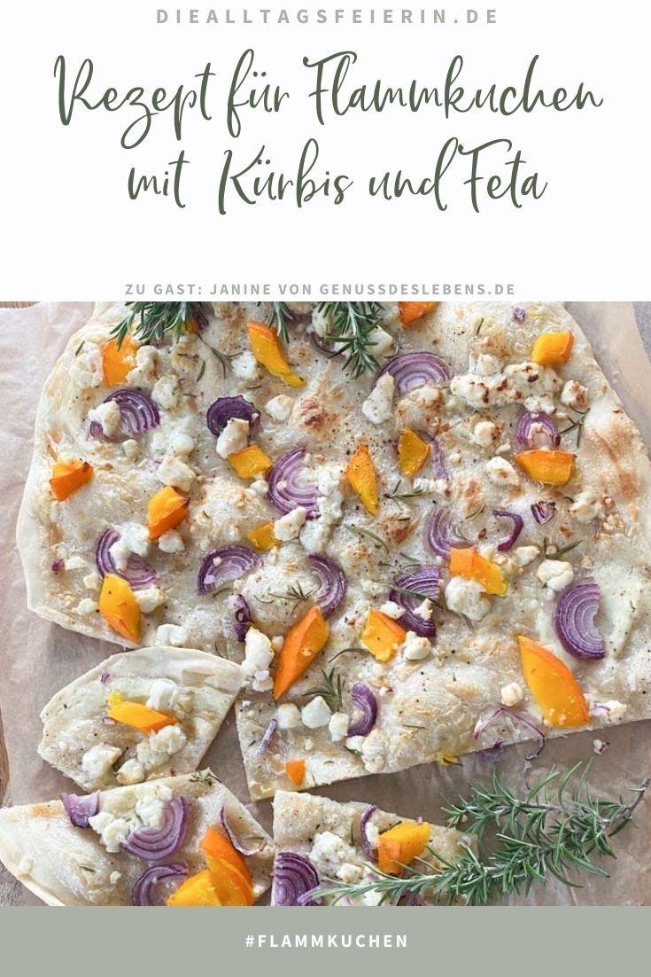 Flammkuchen mit Kürbis und Feta - Gastartikel Janine von genussdeslebens.de