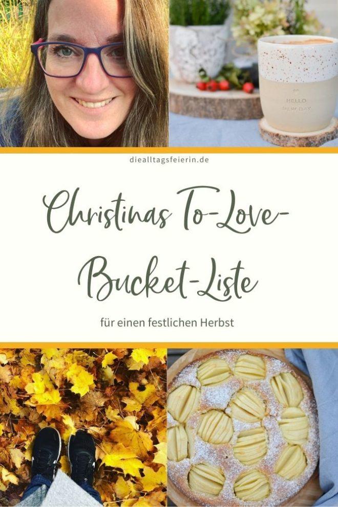 ToLove-Bucket Liste für einen festlichen Herbst