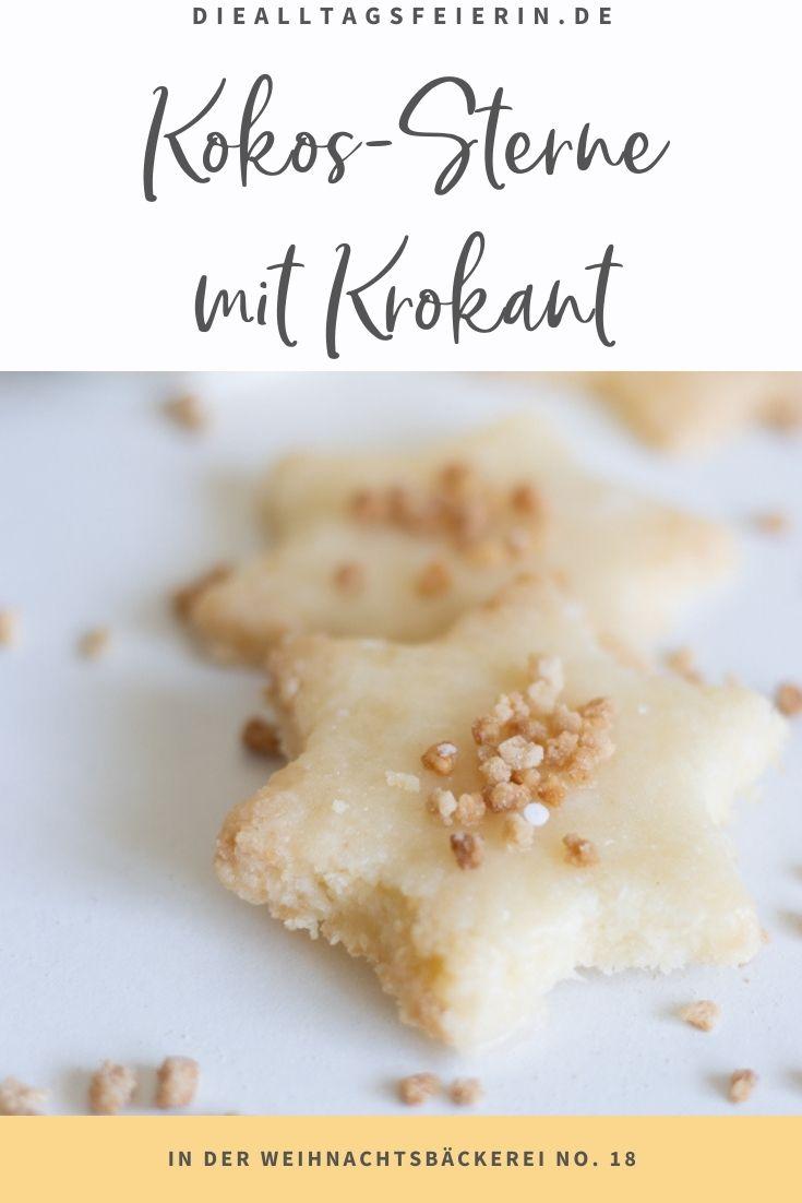 Rezept für Kokos-Plätzchen mit Krokant, das 18. Rezept aus der alltagsfeierlichen Küche zur Weihnachtszeit