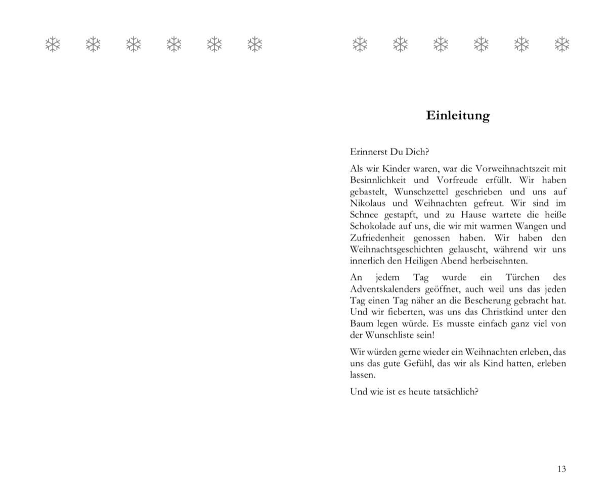 """Auszug aus """"Weihnachten EINFACH gemacht"""" von Birgit Haase"""