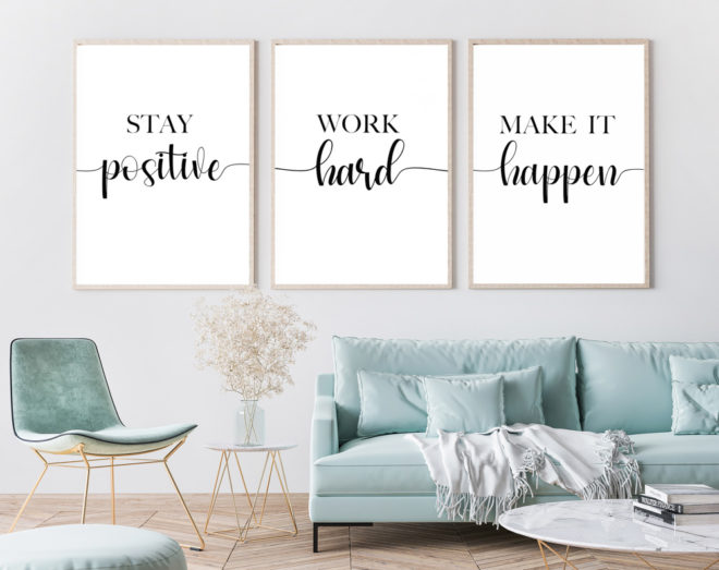 Crin and Jean, Etsy-Shop, Print - positive vibes